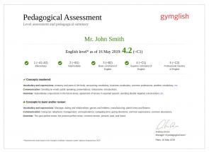 教学评估 Gymglish